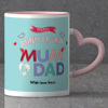 Pastels Personalized Anniversary Mug set for Parents