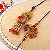 Peacock Dial Bhaiya Bhabhi Rakhi Set