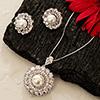 Pearl and Diamond Pendant set