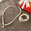 Pearl Necklace Set with Bracelet in a Gift Box