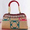 Pearl Studded Multicolored Silk Handbag With Zari Work