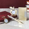 Pen & Card Holder with Keychain & Table Clock In a Gift Set