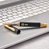 Personalized Black and Golden Ballpoint Pen