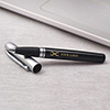 Personalized Black & Silver Rollerball Pen