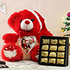 Personalized Christmas Teddy with Box of Chocolates