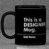 Personalized Designer's Black Mug
