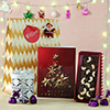 Personalized Greeting Card with Chocolates & Plum Cake