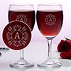 Personalized Monogram Wine Glasses (Set of Two)