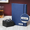 Personalized Multipurpose Notepad and Cufflinks Combo