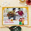 Personalized Paper Puzzle with Metal & Cz Rakhi
