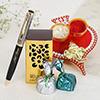 Personalized Pen with Chocolates & Ganesha Thali