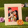 Personalized Photo Frame with Bhai Dooj Tikka