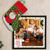 Personalized Photo Frame with Big Santa Socks
