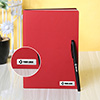 Personalized Red Diary with Black Pen