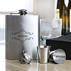 Personalized Stainless Steel Hip Flask & Shot Glasses Set