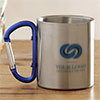 Personalized Steel Mug with Blue Handle