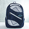 Personalized White & Blue Backpack