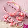 Pink Floral Design Kids Hair Accessories
