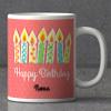 Pink Polka Dots Personalized Birthday Keychain & Mug combo