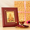Pooja Thali with Lord Ganesha Photo Frame