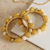 Posh Gold-Plated & Bead-Stringed Bangle