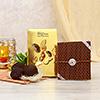 Premium AD Rakhi with Chocolate Cubes in Gift Bag