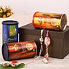 Premium Bhaiya Bhabhi Rakhi Set with Dry Fruit Hamper in a Gift Box