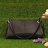 Pure Leather Black Formal Bag for Women