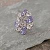 Purple and White Swarovski Ring