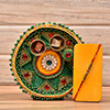 Rakhi in Beads & Pearl Work With a Thali for Roli-Chawal