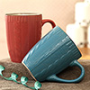 Red & Blue Set of 2 Mugs in a Gift Box