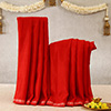 Red Colored Cotton Dhoti & Stole For Puja