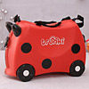 Red Ladybug Ride-on Trolley For Kids