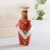 Red Meena Marble Flower Vase