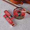 Red Printed Glass Ashtray & Matchbox Set