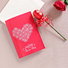 Red Rose Personalized Greeting and Chocolate Hamper