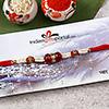 Red Stone & Beads Rakhi
