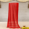 Red & White Colored Dhoti