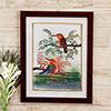 Regal Redbills Birds Silk Painting