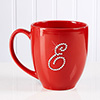 Rhinestone Monogram Personalized Red Mug