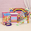 Ribbon Bangles & Head Bands Kit With Colorful Loombands For Girls