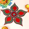 Rich Red Color Rangoli