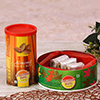 Roasted & Salted Can of Almonds with a Box of Pista Roll