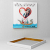 Romantic boat Personalized Birthday Canvas