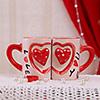 Romantic Heart Doodles Mug Set of 2