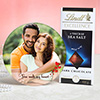 Romantic Personalized Photo Frame with Lindt Chocolate