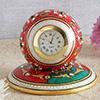 Round Marble Meenakari Clock