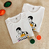 Round Neck Personalized Tshirts (set of 2) with Gulal