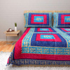 Royal Blue and Maroon Ethnic Bed Sheet