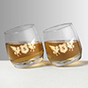 Royal Personalized Spinning Whisky Glass Set of Two